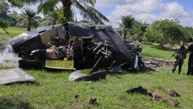 Accidente de helicóptero deja cinco policías muertos