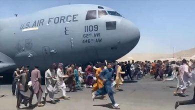 restos humanos en el tren de aterrizaje de avión
